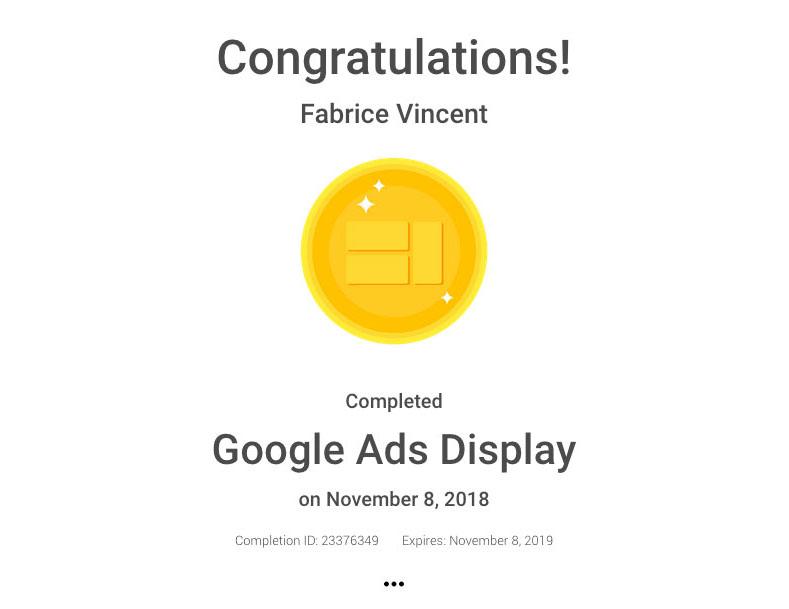certification goolge ads display