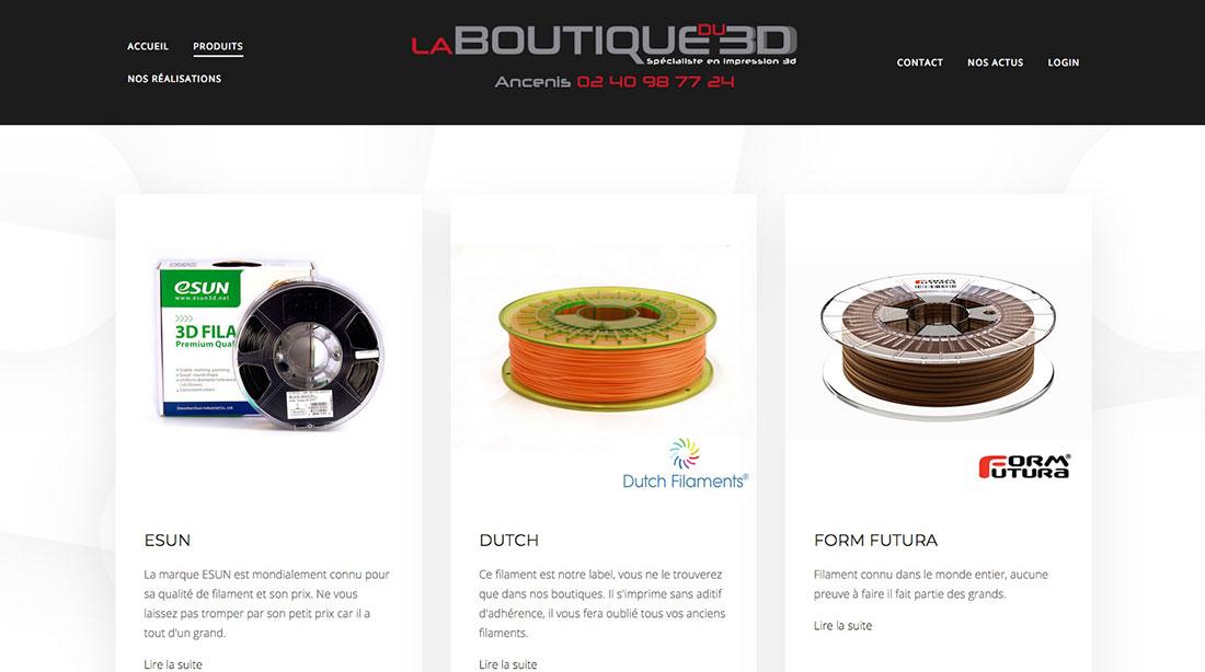 site web la boutique 3d Ancenis