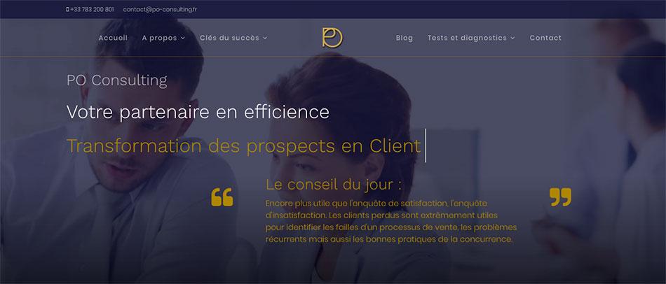 nouveau site internet responsive PO Consulting